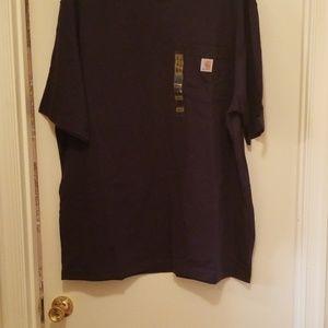 NWT CARHARTT short sleeve Navy Blue Pocket T-shirt